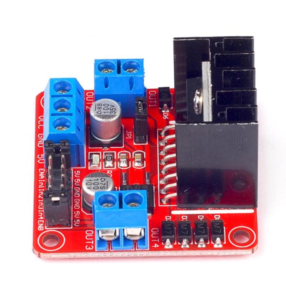 L298N Voltaj Regulatörlü Çift Motor Sürücü Kartı